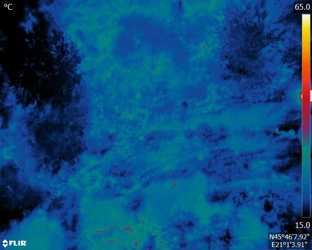 Before water spilling – Thermal image - C