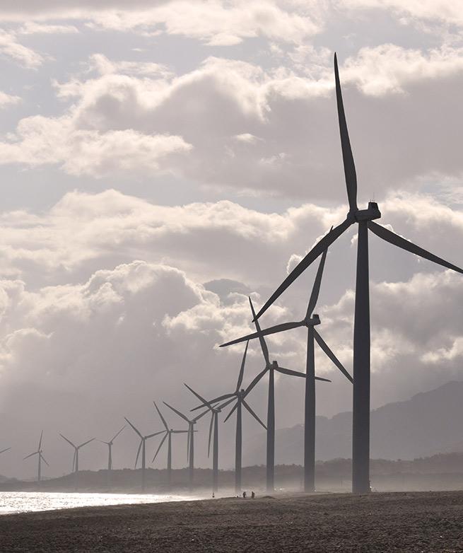 Wind Farm on a beach